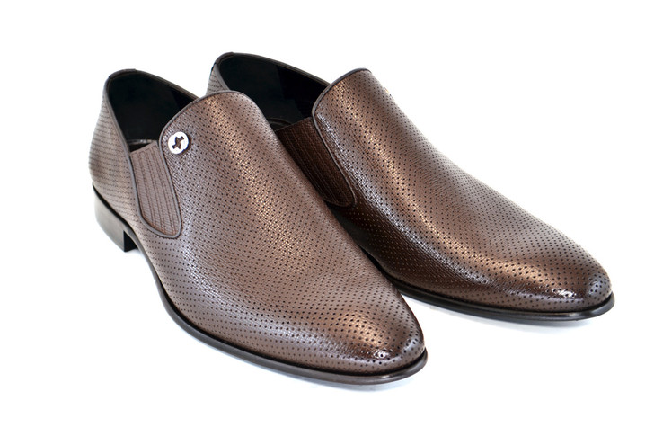 Corrente 3804 Perforated loafer Brown