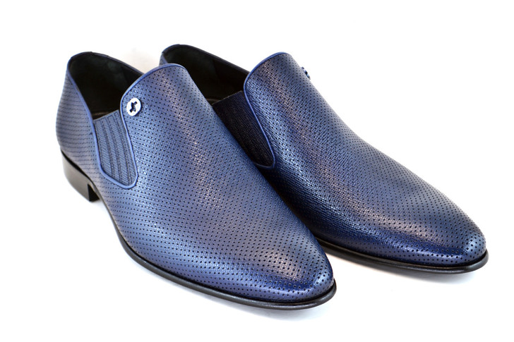Corrente 3804 Perforated loafer Navy