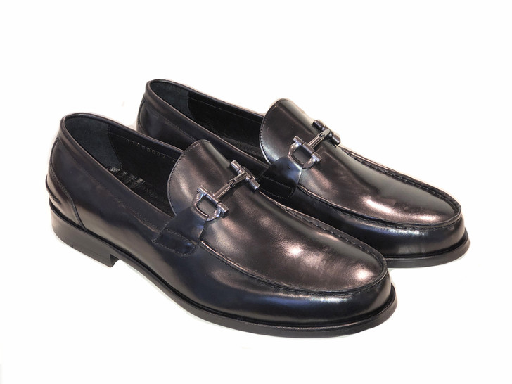 Pelle Line Exclusive 1140 Bit Buckle loafer- Black