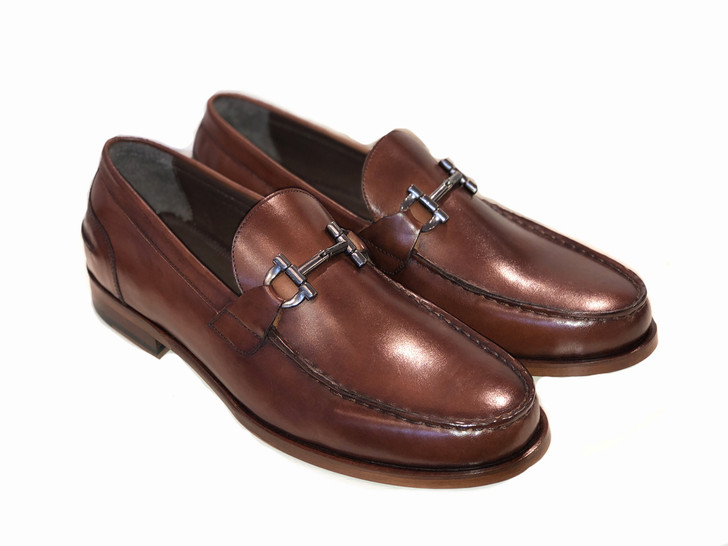 Pelle Line Exclusive 1140 Bit Buckle loafer- Brown
