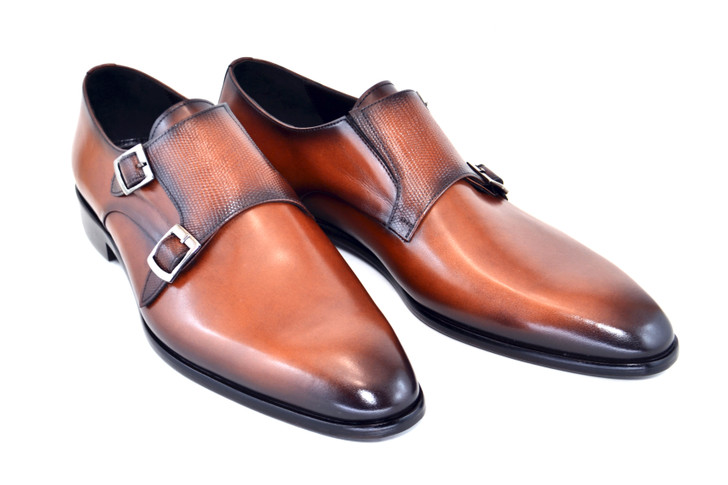 Corrente 5235- Double monk strap - Brown