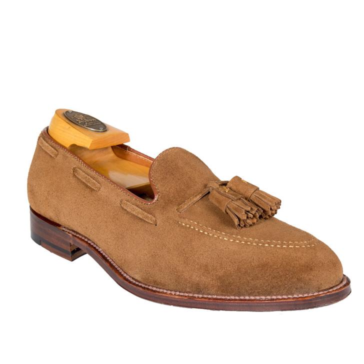 Alden 3403 Suede tassel  loafer - Snuff Suede