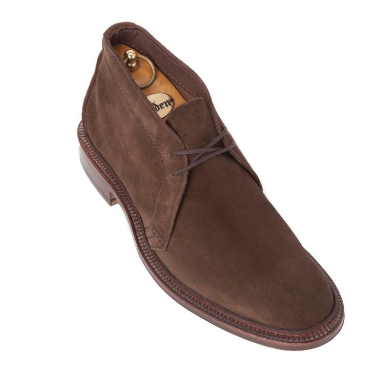 Alden 1492 Unlined Chukka Boot Dark Brown Suede