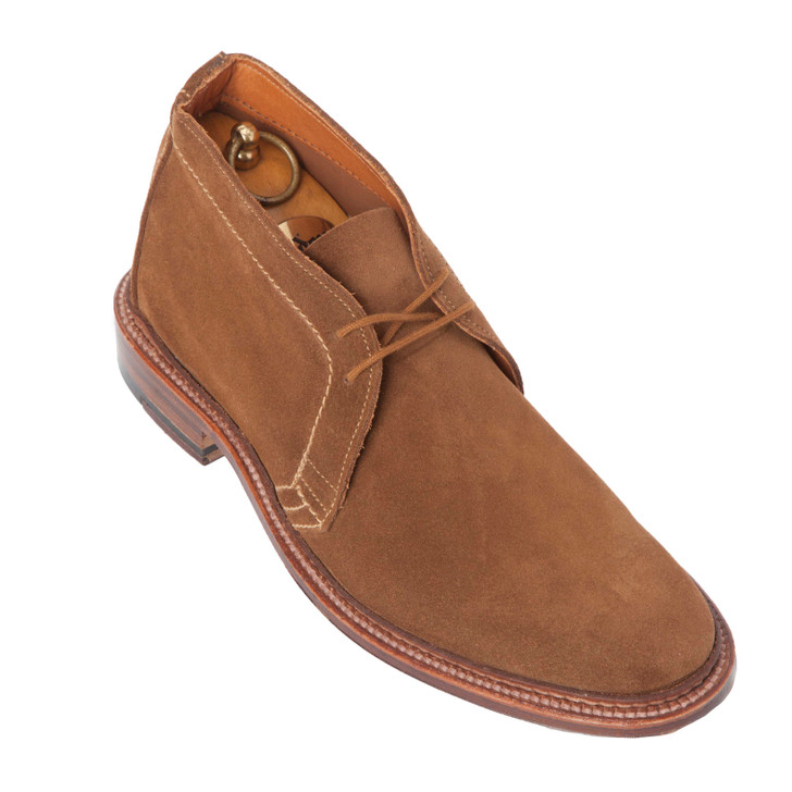 Alden 1493 Unlined Chukka Boot Snuff Suede