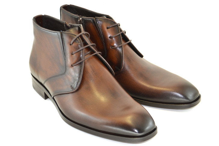 Corrente 5346 chukka boot with size zip- Brown