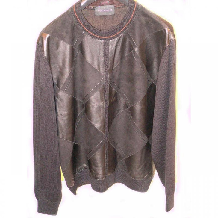 Pelleline 45710 Sweater Leather & Suede Black