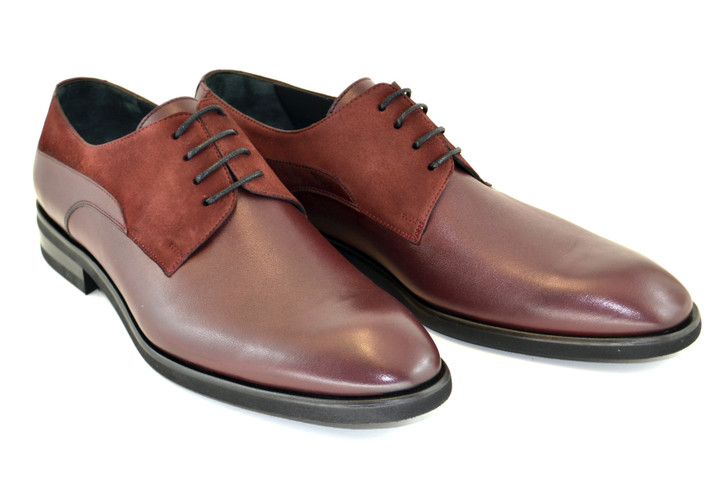 Corrente 5341HS- Plain Toe lace up Burgundy
