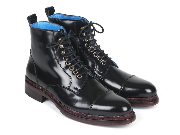 Paul Parkman Polished Leather Boots Black (ID#5075-BLK)