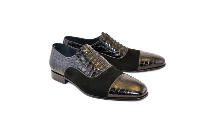 Corrente 5796 Cap toe Fake lace - Black