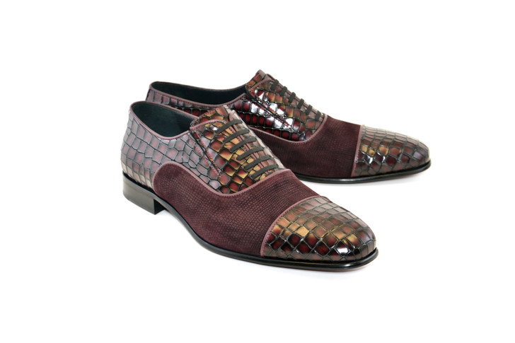 Corrente 5796 Cap toe Fake lace - Burgundy