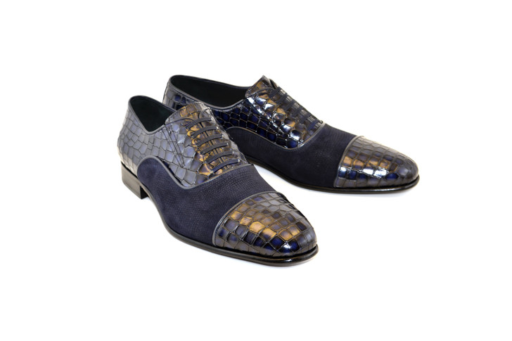 Corrente 5796 Cap toe Fake lace - Navy