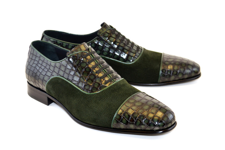Corrente 5796 Cap toe Fake lace - Green