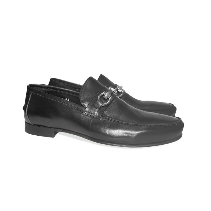 Pelle Line Exclusive 8320 Buckle Loafer- Black