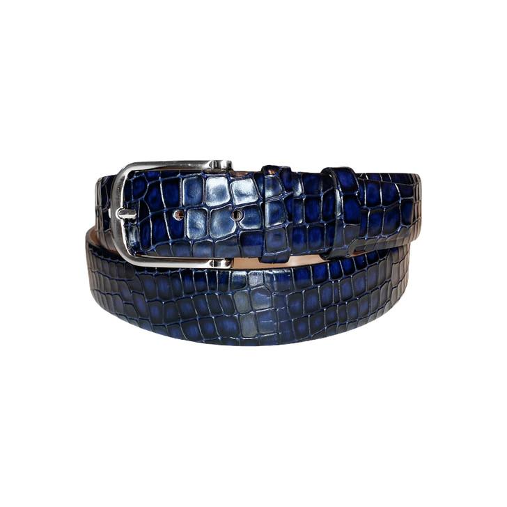 Corrente Men's Leather Belt - 3470 Navy