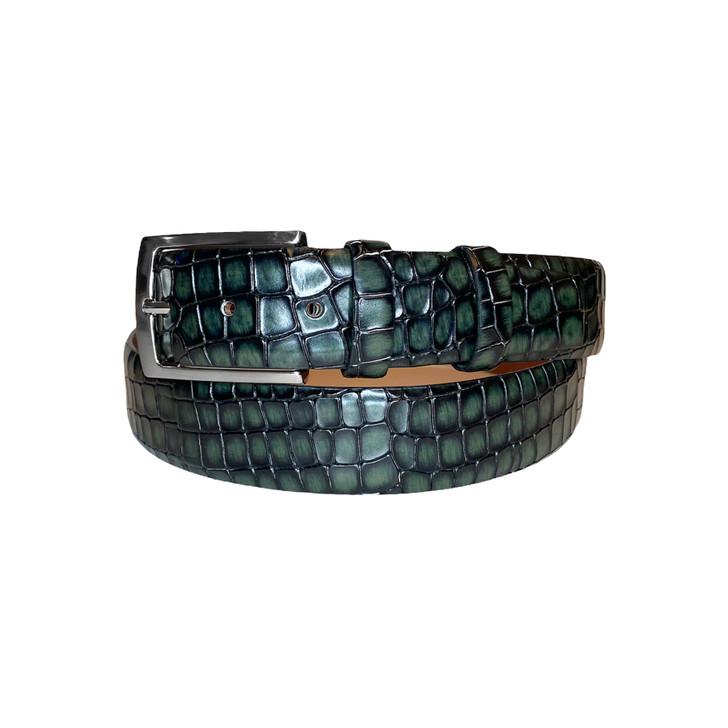 Corrente Men's Leather Belt - 3470 Green