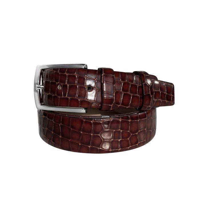 Corrente Men's Leather Belt - 3470 Cognac