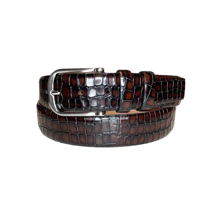 Corrente Men's Leather Belt - 3470 Brown