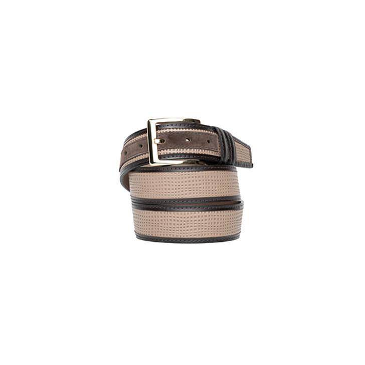 Corrente Men's Leather Belt - 5827 Pebble