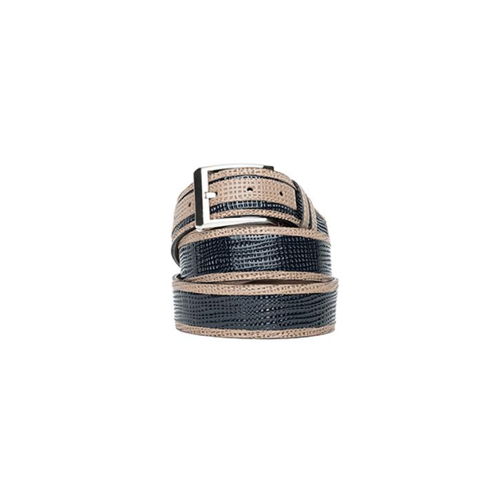 Corrente Men's Leather Belt - 5827 Navy
