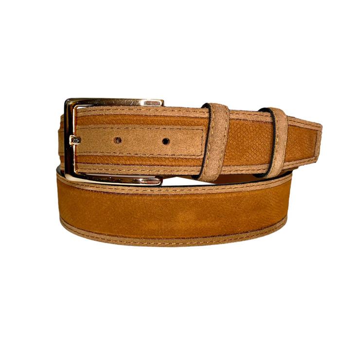 Corrente Men's Leather Belt - 5760 Tan