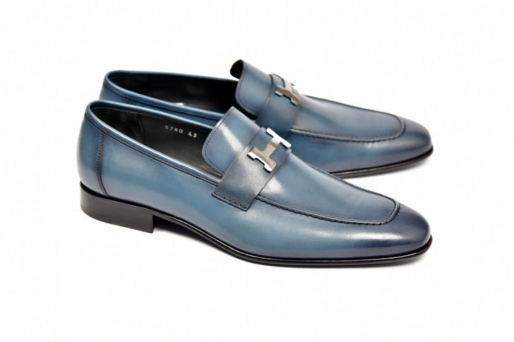 Corrente 5760 - H Buckle loafer Blue