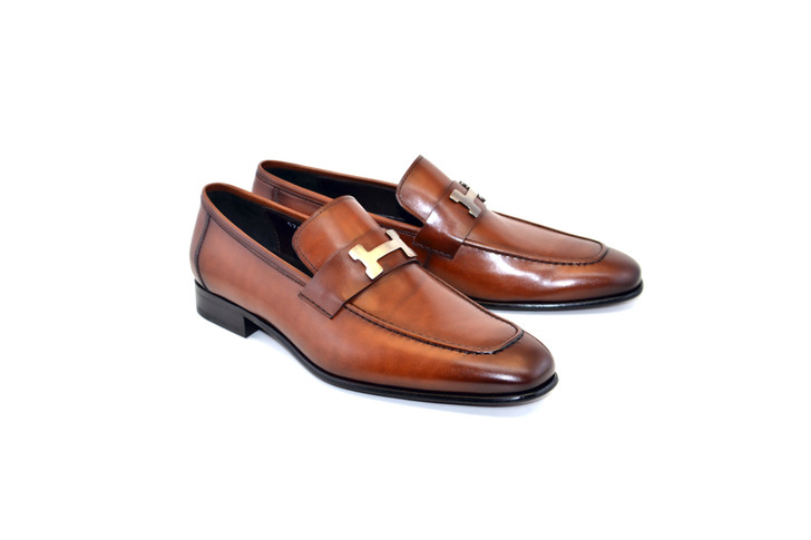 Corrente 5760 - H Buckle loafer Tan