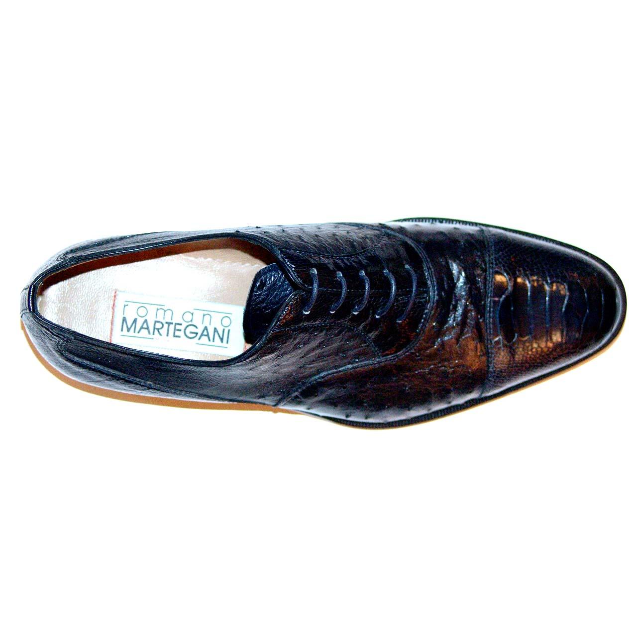 Romano Martegani 4621 Ostrich Cap Toe Black