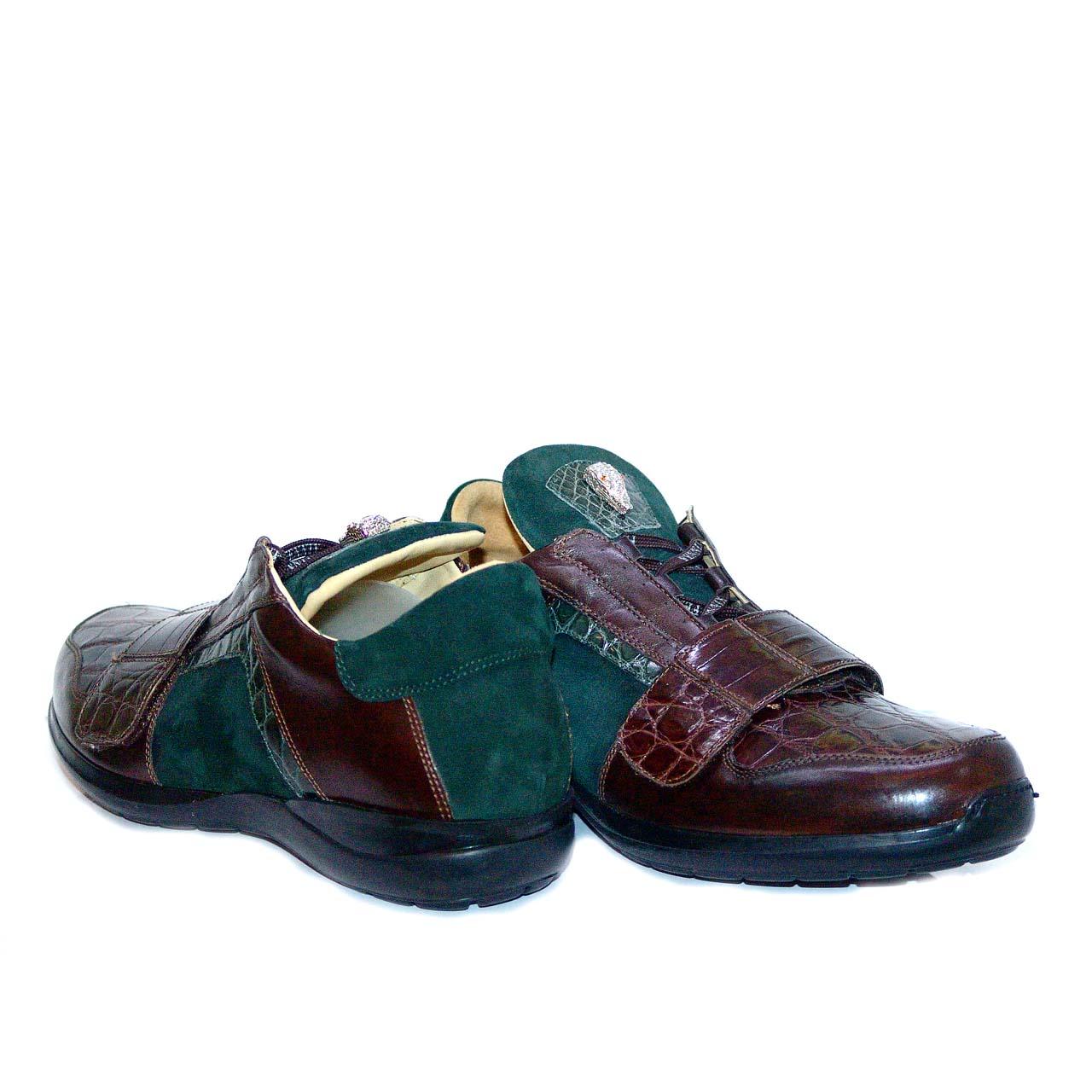Fennix 3047 Alligator & Suede Sneaker Green
