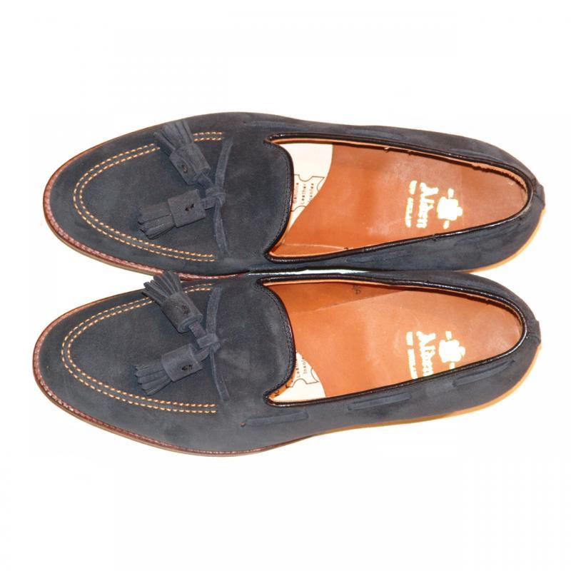 Pelle Line Exclusive Alden Tassel Moccasin Loafer 86205 Navy Suede