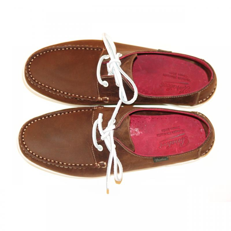 Paraboot Domingue Boat Shoe Brown With Bordo Inside