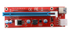PCIe 6-Pin 16x to 1x Powered Riser Adapter Card (Red)