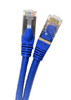 1 foot Cat7 SFTP Double Shielded RJ45 Snagless Ethernet 26AWG Cable (Blue)
