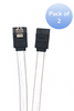 """2-Pack 40"""" SATA III Straight Sleeve Cable with Locking Latch - White"""
