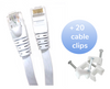 Category 6 UTP RJ45 Flat Patch Cable White - 75 ft