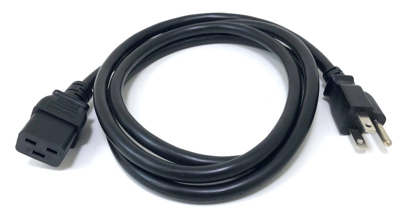 6ft Heavy Duty Power Cord (C19 to NEMA 5-15P)