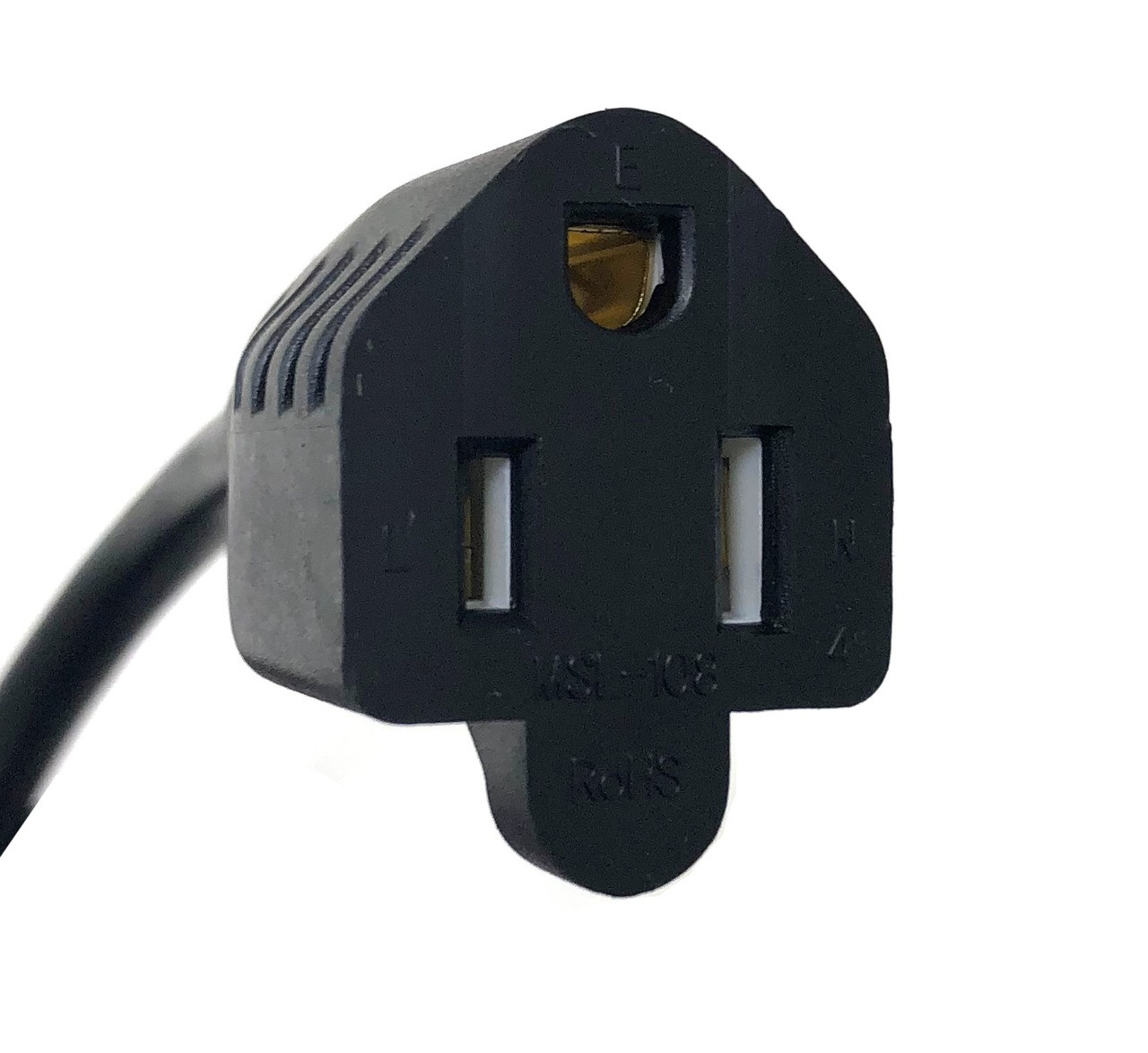 1ft 1-to-2 Y Power Cord Splitter