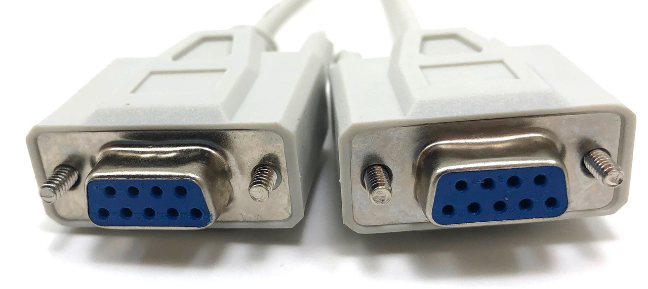 10ft Null Modem Cable (DB9 F/F)