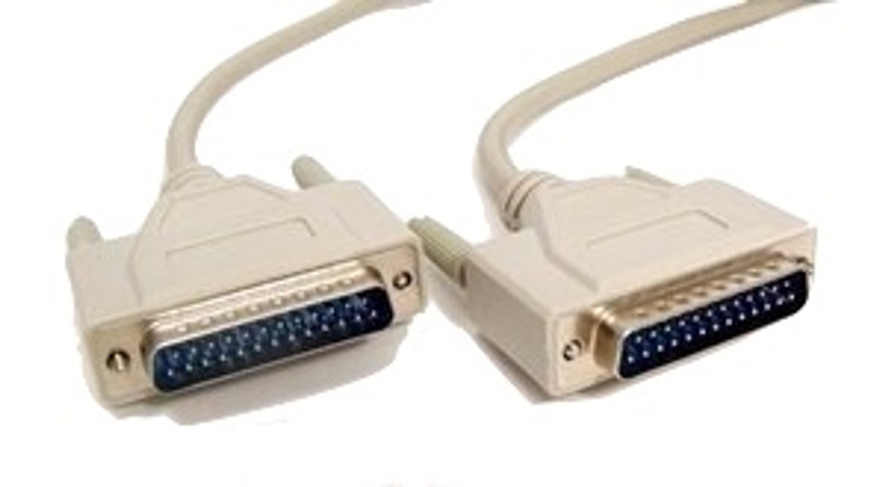 6ft Null Modem Cable (DB25 M/M)