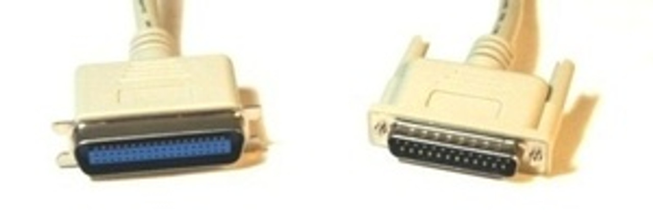 IEEE 1284 Bi Directional Parallel Printer Cable (DB25M to C36M) - 15ft