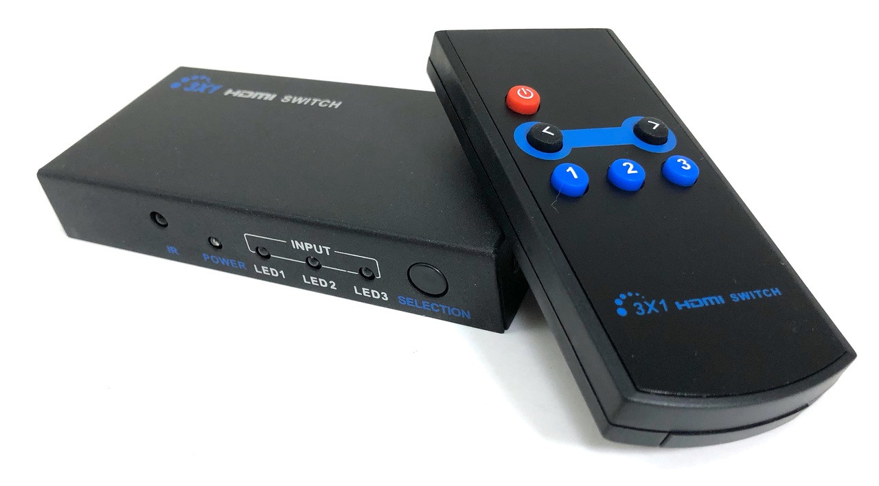 3 X 1 3D HDMI Switch with Remote