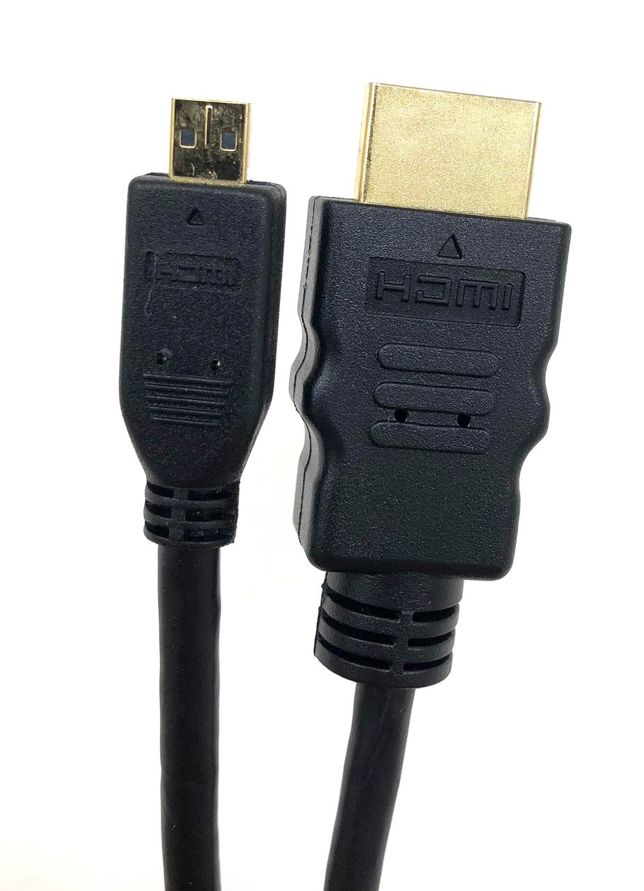 6ft High Speed HDMI Male to Micro HDMI Male Cable