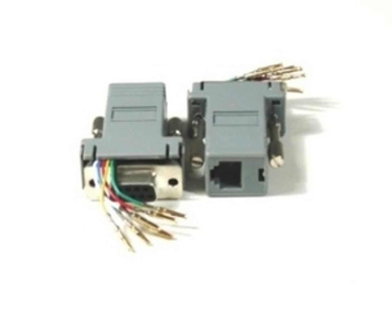 Modular Adapter DB9 Female to RJ11