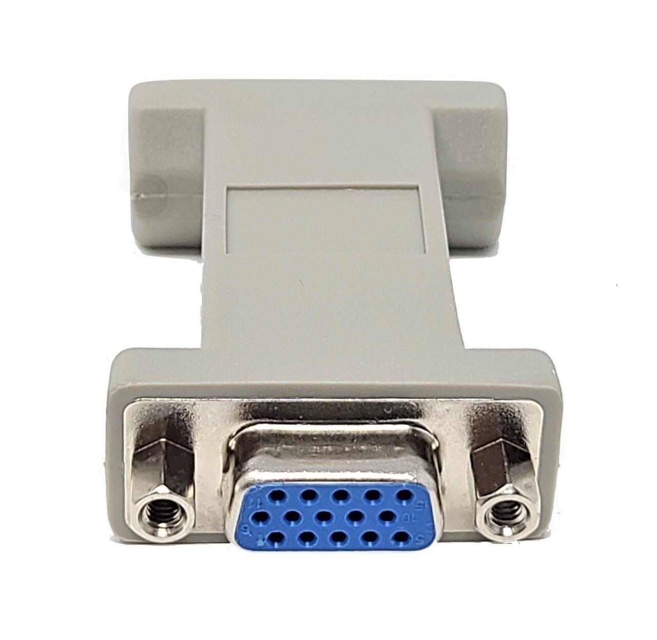 DB9 Female to HD15 Female (VGA) Adapter