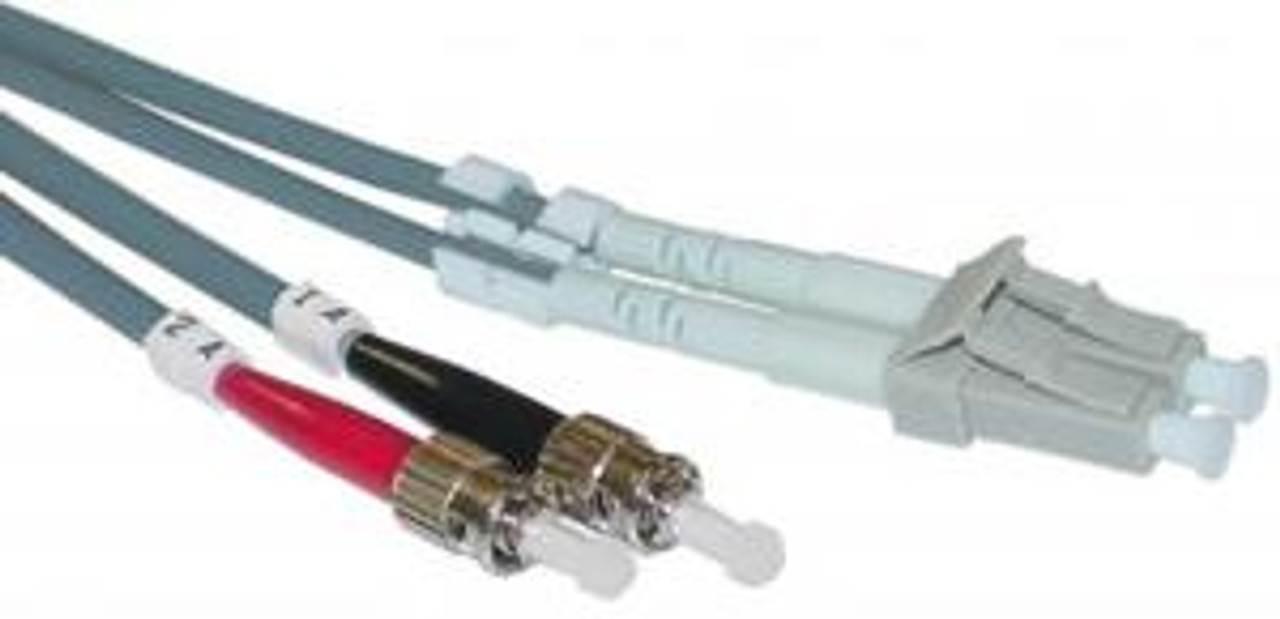 LC / ST Multimode Duplex 50/125 Fiber Optic Cable - 1 Meter
