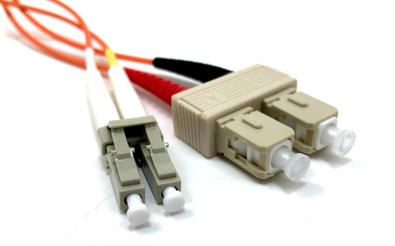 LC / SC Multimode Duplex 62.5/125 Fiber Optic Cable - 2 Meter