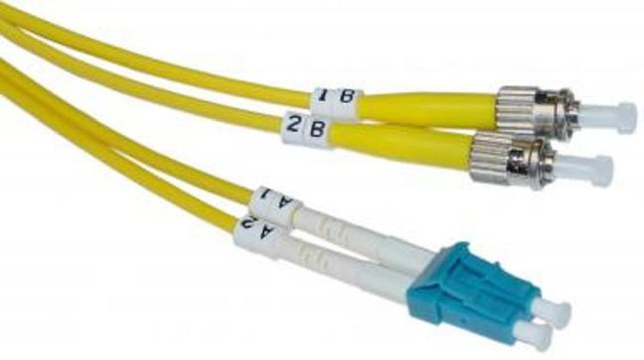 LC / ST Singlemode Duplex 9/125 Fiber Optic Cable - 3 Meter