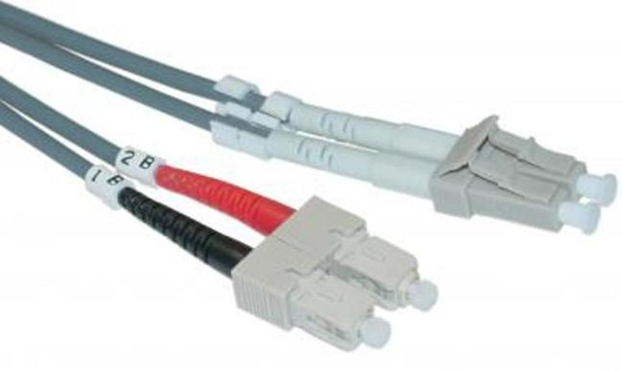 LC / SC Multimode Duplex 50/125 Fiber Optic Cable - 5 Meter