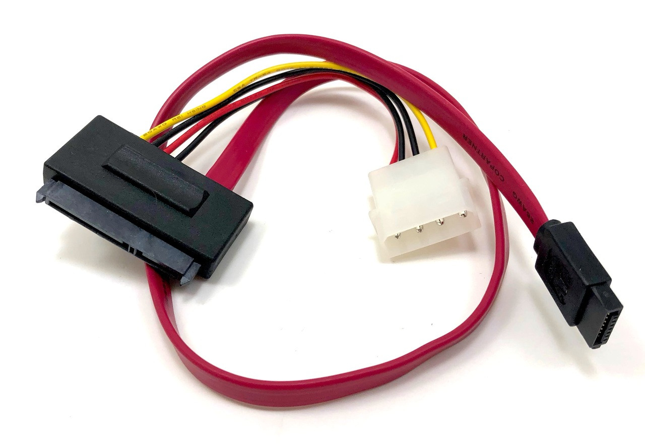 Sata III (6Gb) Data Combo Cable with LP4 Adapter