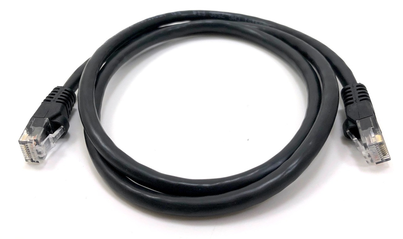 Category 6 UTP RJ45 Patch Cable Black - 3ft