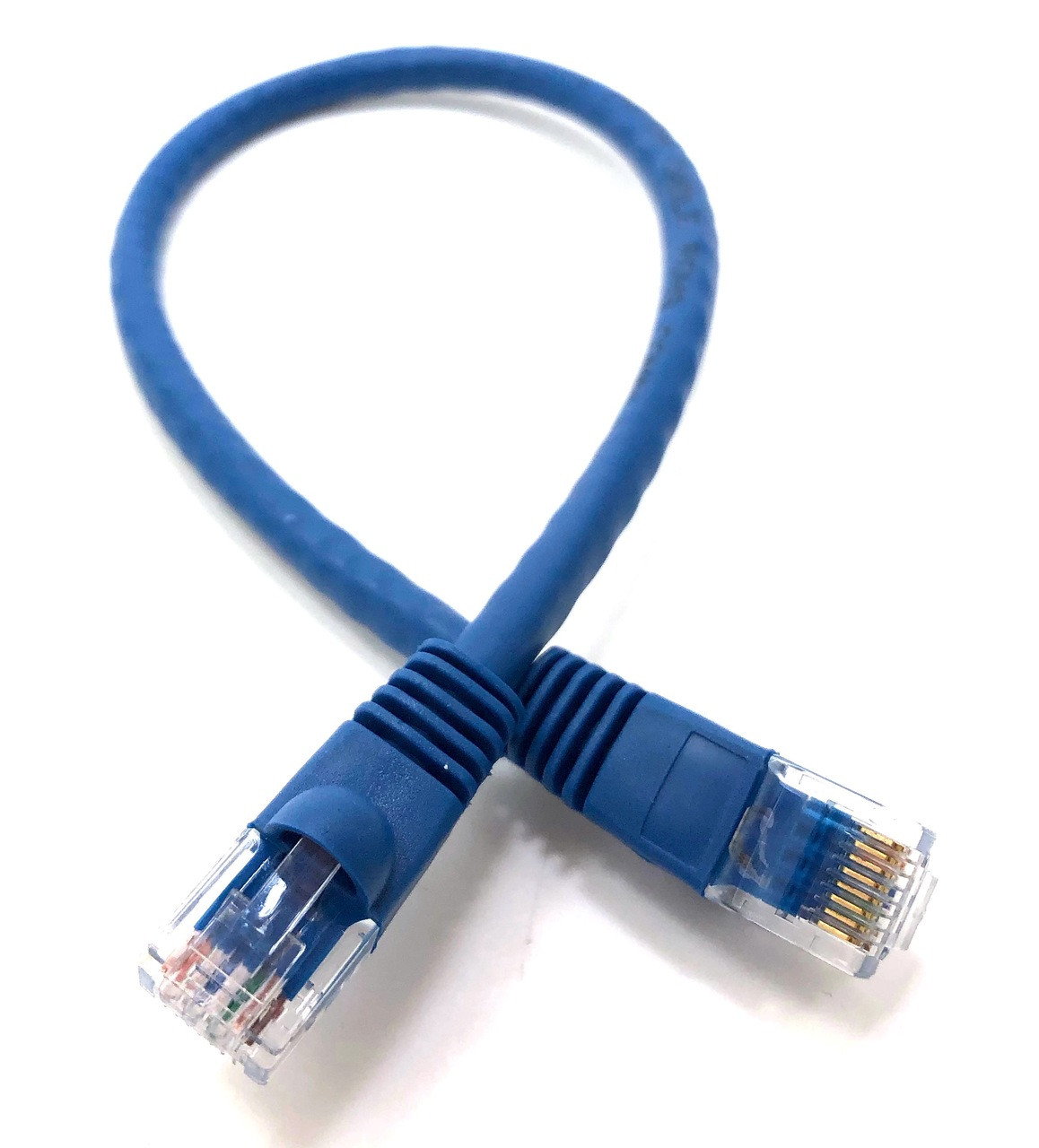 Category 6 UTP RJ45 Patch Cable Blue - 1ft (10 Pack)